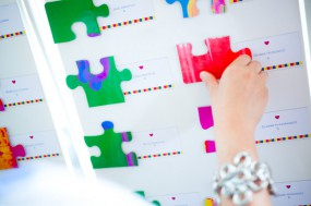 DIY Puzzle Wedding Guestbook