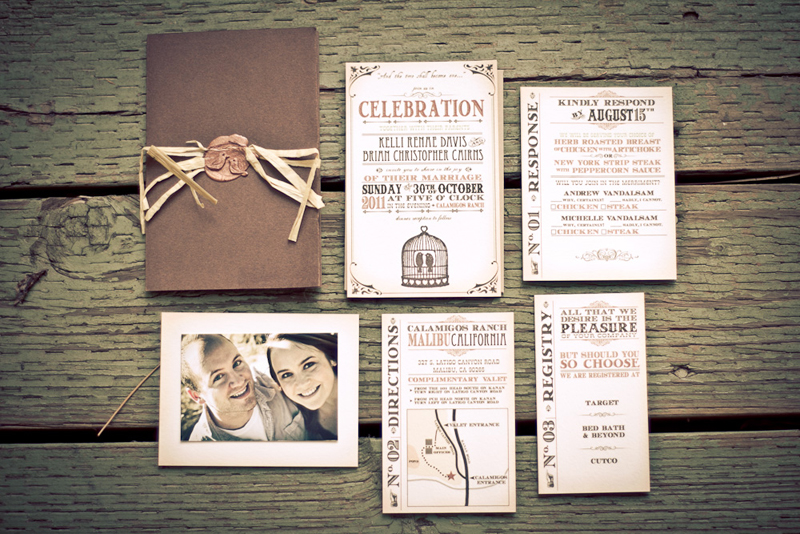 Kelli   Brian   s Rustic DIY Garden Party WeddingDiy Rustic Wedding Invitations
