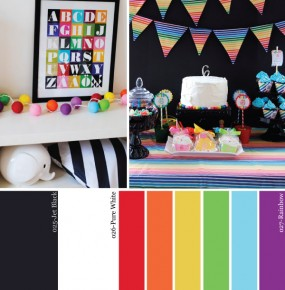 Hue It Yourself: Black + White + Rainbow All Over