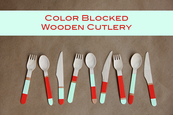 diy-color-blocked-party-utensils