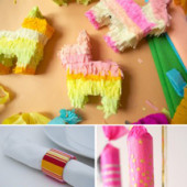 Recycled Cardboard Party Crafts