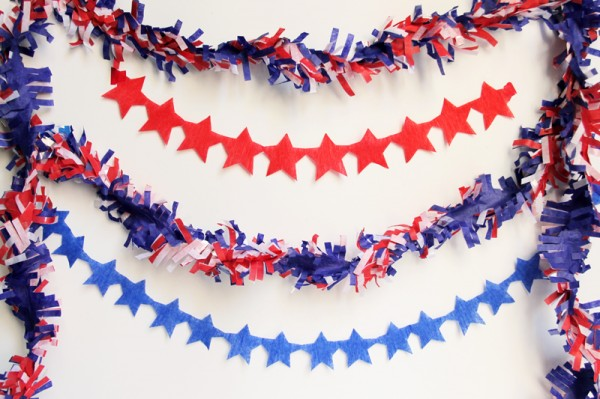 DIY Star Streamers for July Fourth