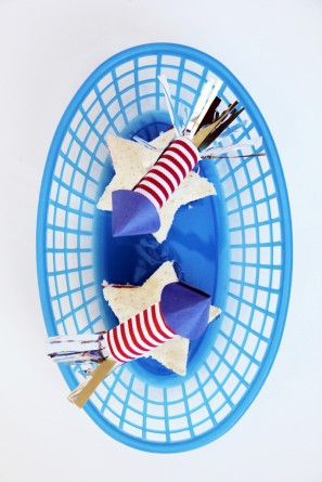 July Fourth Fire Cracker Cake Toppers