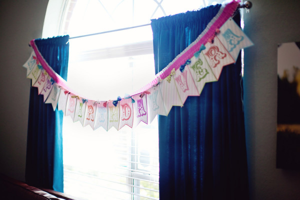 Custom Girly Happy Birthday Bunting