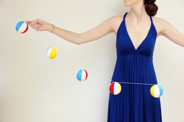 DIY Beach Ball Garlands Tutorial