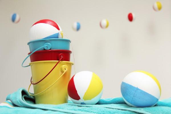 Faux Beach Ball DIY