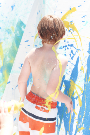 Messy Paint Birthday Party