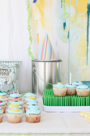 Paint Party Cupcake Table
