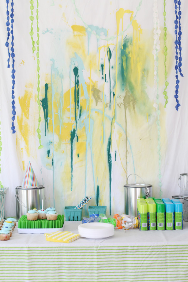 Paint Splatter Dessert Backdrop