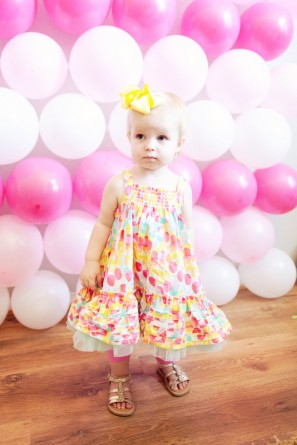 Pink Balloon Birthday Photo Booth