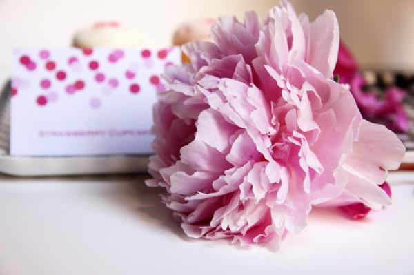 Pink Peony Printable Labels
