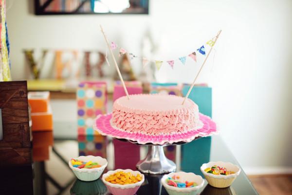 Ruffle Pink Birthday Cake