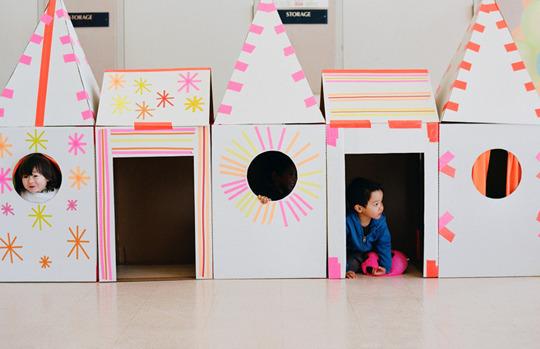 DIY Cardboard Fort