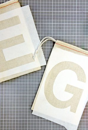 DIY Freezer Stencil Monogram Bags