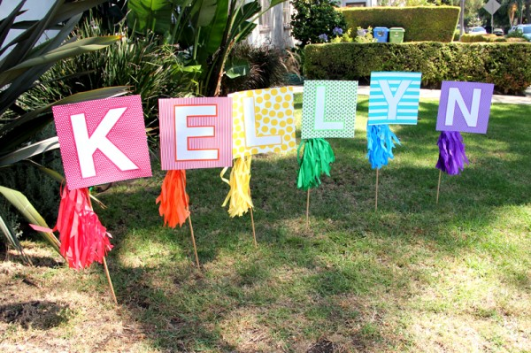 DIY Rainbow Birthday Sign