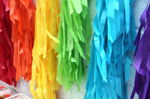 DIY Rainbow Fringe Backdrop