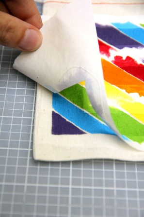 Freezer Stencil Favor Bag DIY Tutorial