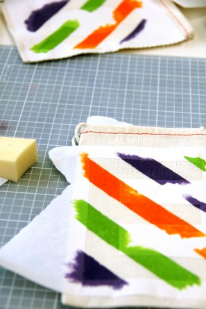 Rainbow Stripe DIY Favor Bags