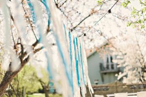 Blue Fabric Garland