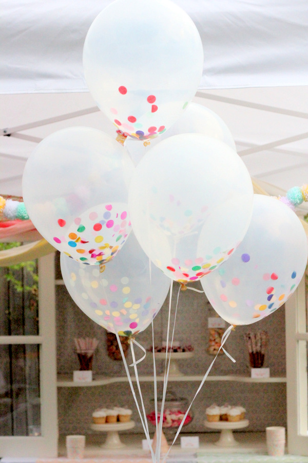 Confetti balões cheios