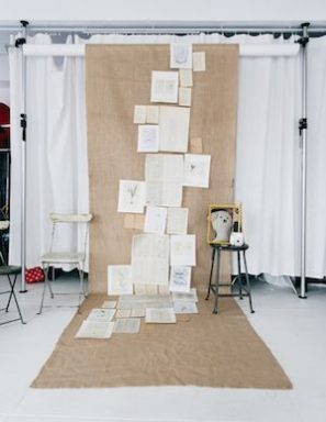 DIY Book Page Photo Booth Backdrop