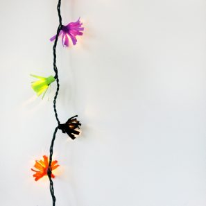 DIY Fringe String Lights