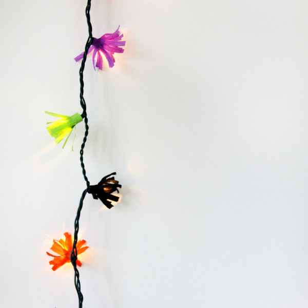 DIY Fringe String Lights | Studio DIY