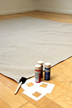 DIY Geometric Stenciled Picnic Blanket