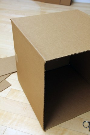 DIY Air Mail Cardboard Box Halloween Costume