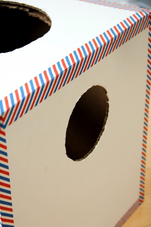 DIY Cardboard Box Air Mail Kids Halloween Costume