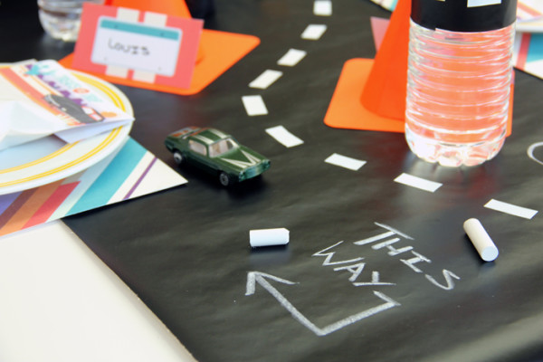 DIY Chalkboard Road Table Runner