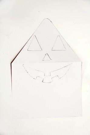 DIY Jack-o-Lantern Envelope Liner Tutorial