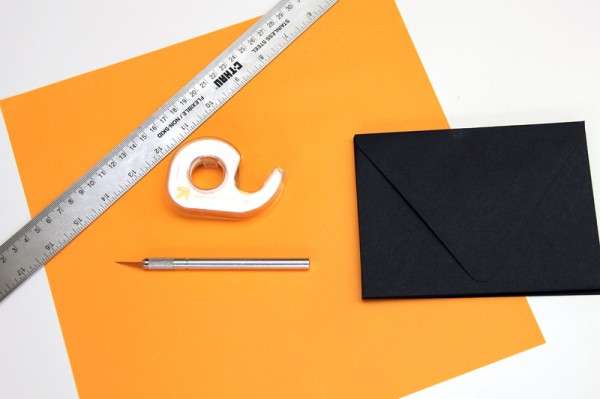 DIY Jack-o-Lantern Envelope Liners Supplies