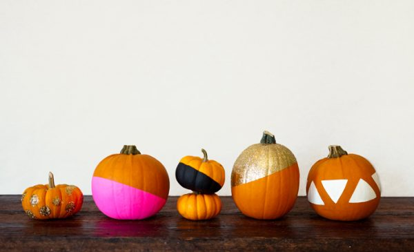 DIY Paint Dipped Pumpkins
