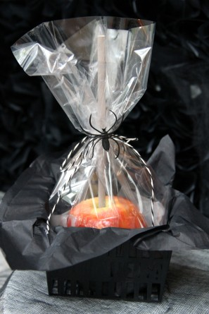 Halloween Party Caramel Apple Favors