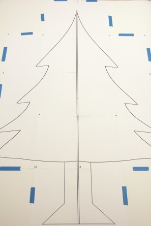 Cardboard Christmas Tree Tutorial