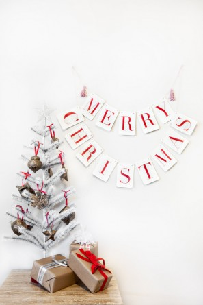 Christmas Banner by Tuck and Bonte