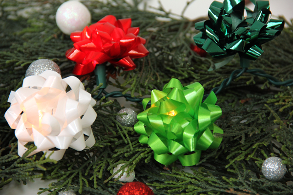 DIY Christmas Bow Lights Tutorial