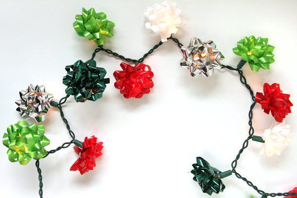 DIY Christmas Bow Lights