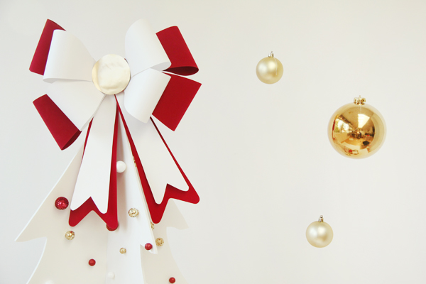 DIY Christmas Bow Tree Topper