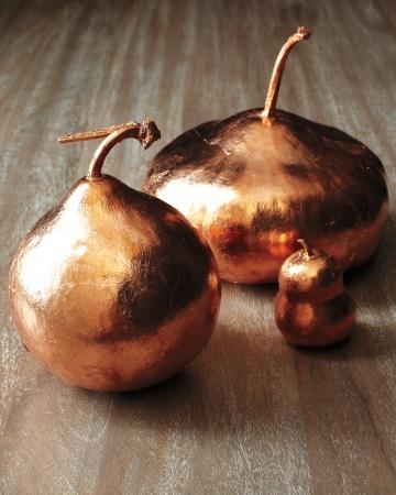DIY Gilded Gourds