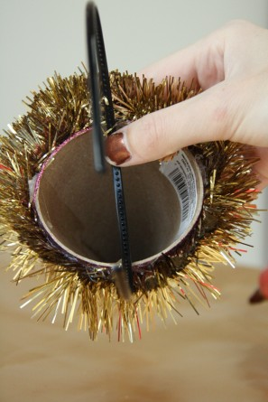DIY Glitter Party Hats for Christmas