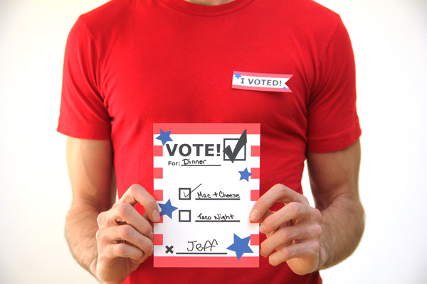 DIY Printable Voting Ballots