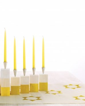 DIY Wooden Block Menorah