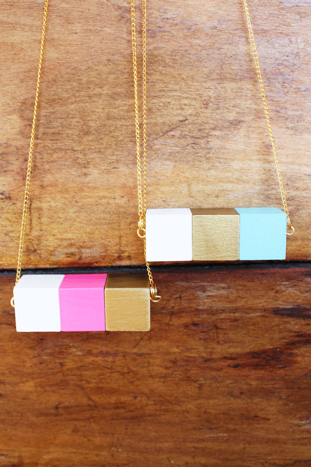 diy wood necklace
