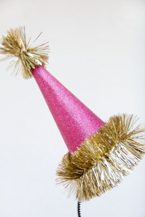 Glitter Holiday Party Hat DIY