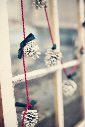 Holiday Pinecone Garland by Tuck and Bonte