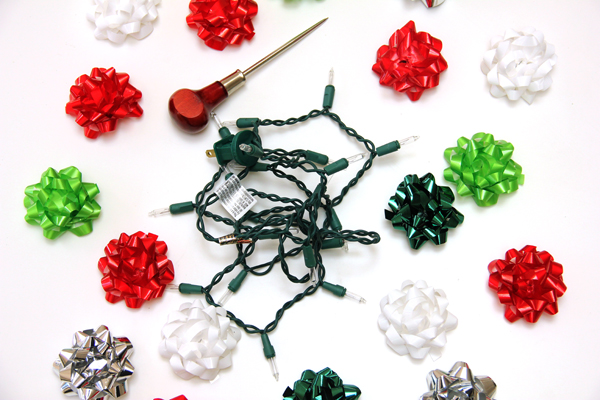 How to Make Christmas Bow Lights