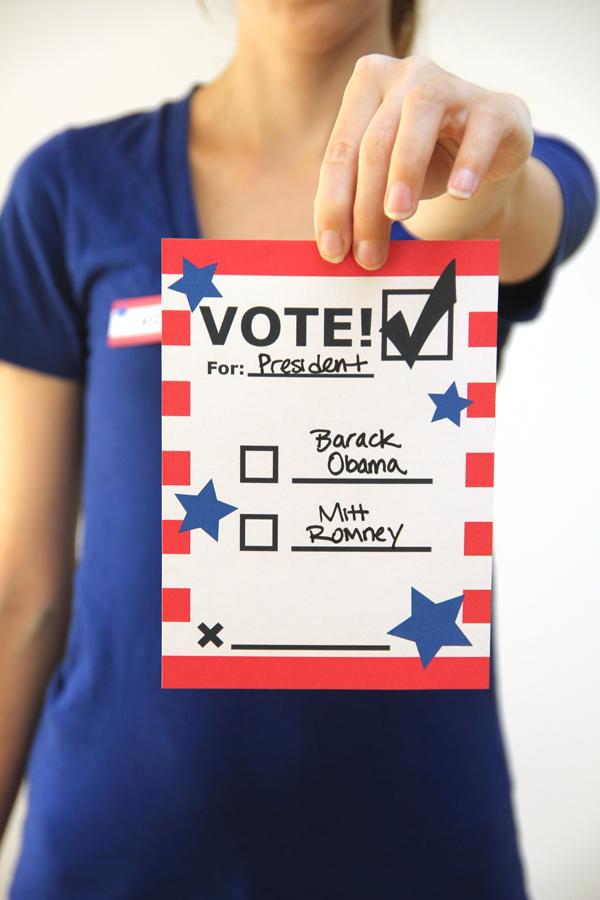 DIY Printable Voting Ballots for Kids