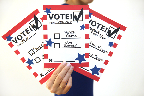 Printable Voting Ballots for Kids